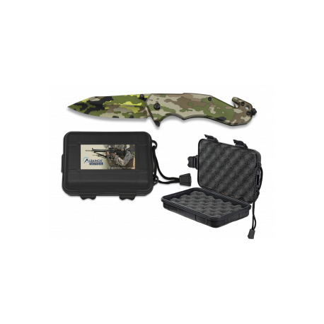 Navaja Albainox Camo Verde C/ caja ABS