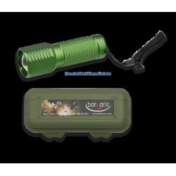 Linterna verde con caja