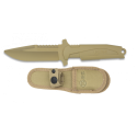 cuchillo entrenamiento K 25 TAN.