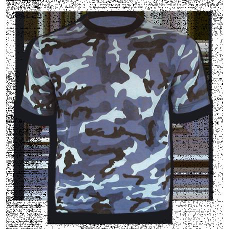 Camiseta m/c camo azul