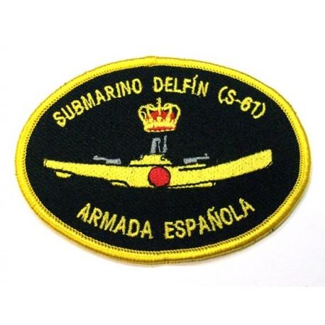 Parche bordado Submarino Delfin S-61