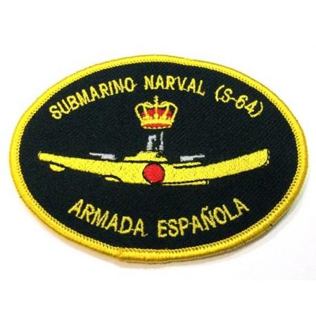 Parche bordado Submarino Narval S-64