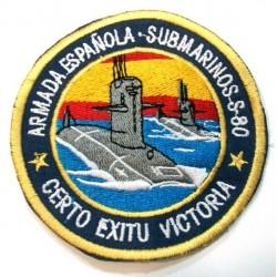 Parche bordado Submarinos S-80 Armada Española