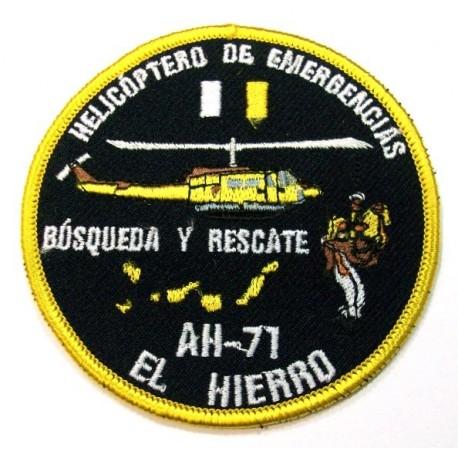 Parche bordado Helicóptero de rescate AH-81 El Hierro