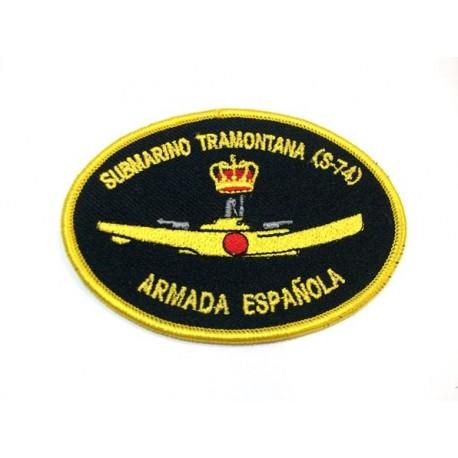 Parche bordado Submarino Tramontana S-74