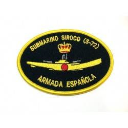 Parche bordado Submarino Siroco S-72
