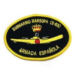 Parche bordado Submarino Marsopa S-63