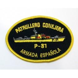 Parche bordado Patrullero Conejera P-31