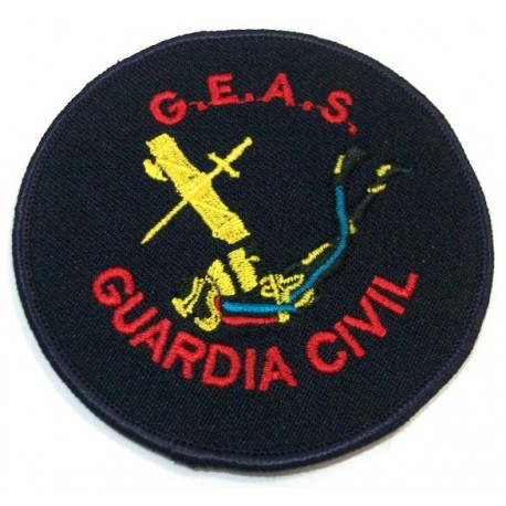 Parche bordado GEAS Guardia Civil